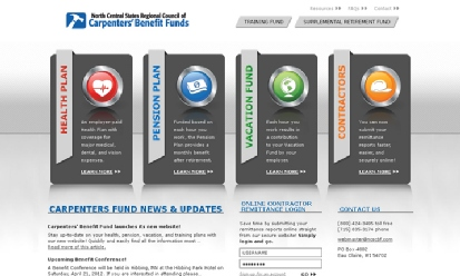 North Central States Regional Council of Carpenters\' Benefit Funds screenshot