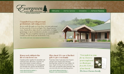 Evergreen Funeral Home and Crematory screenshot