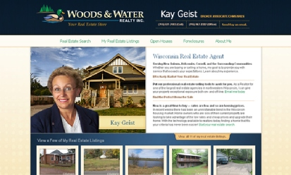 Woods and Water Realty Agent: Kay Geist screenshot