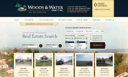 Woods and Water Realty screenshot